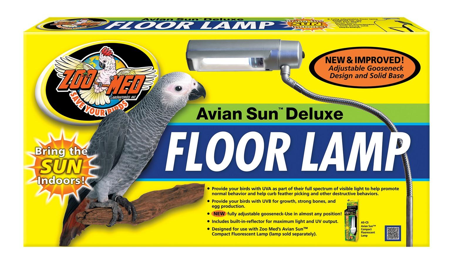 Avian Sun Deluxe Floor Lamp Zoo Med Laboratories Inc
