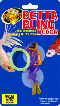 Betta Bling™ Decor - Diver w/ Hoop