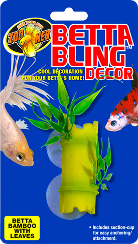 Betta Bling™ Decor – Bamboo w/ Leaves