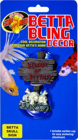 Betta Bling™ Decor - Skull Sign