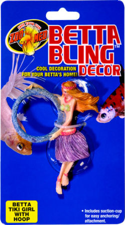 Betta Bling™ Decor - Tiki Girl w/ Loop