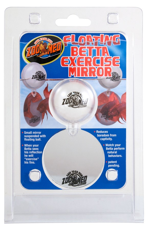 Floating Betta Exercise Mirror Zoo Med Laboratories Inc