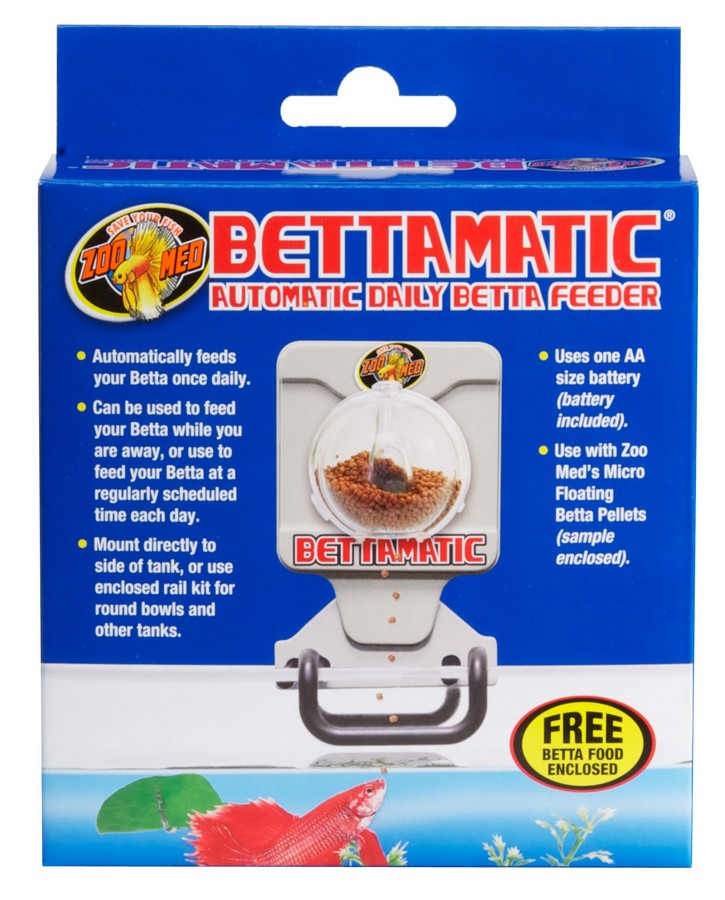 Bettamatic Automatic Daily Betta Feeder Zoo Med Laboratories Inc