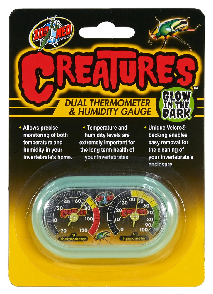 Creatures Dual Thermometer Amp Humidity Gauge Zoo Med