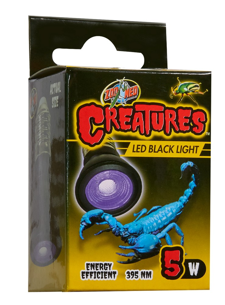Creatures Led Black Light Zoo Med Laboratories Inc