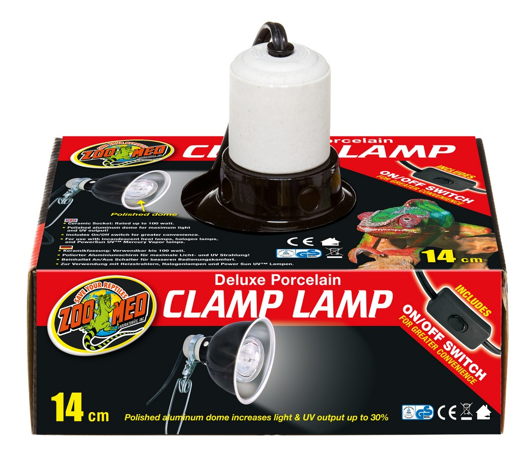 Deluxe Porcelain Clamp Lamp Zoo Med Laboratories Inc