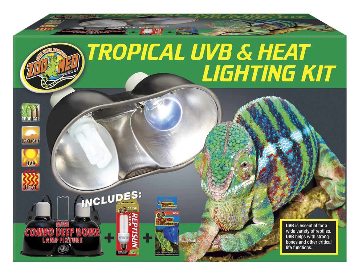Tropical Uvb Amp Heat Lighting Kit Zoo Med Laboratories Inc