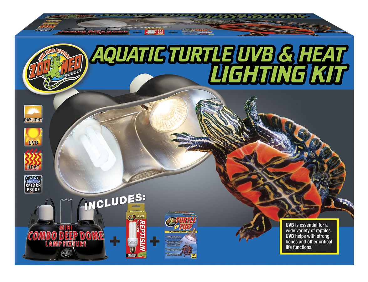 Aquatic Turtle Uvb Amp Heat Lighting Kit Zoo Med