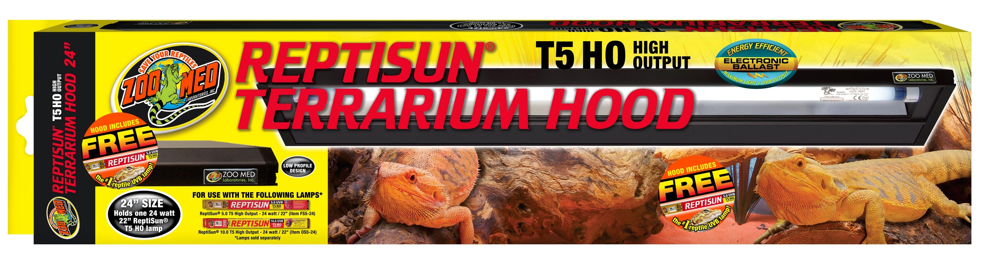 Reptisun 174 T5 Ho Terrarium Hood Zoo Med Laboratories Inc