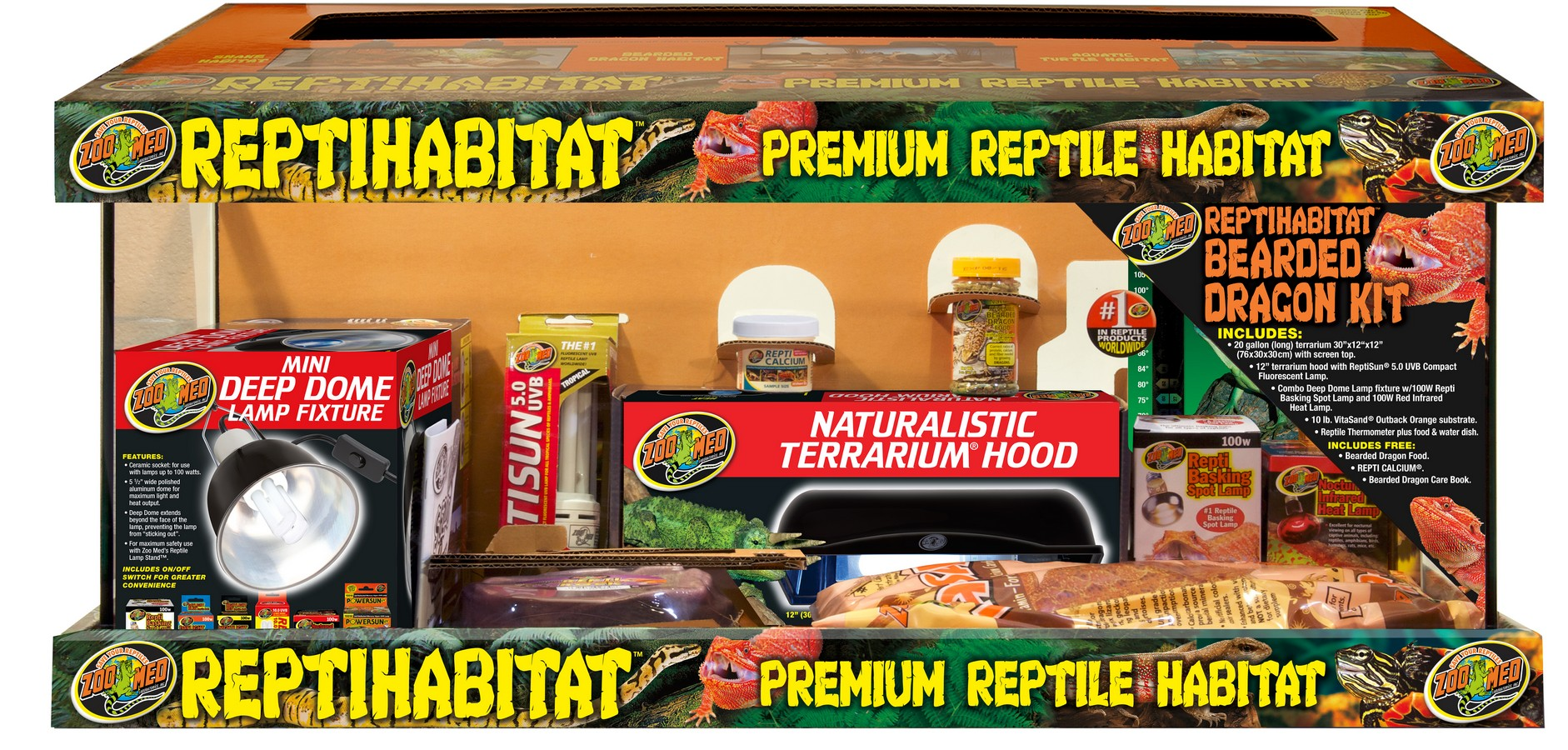 20 Gallon Reptihabitat Bearded Dragon Kit Zoo Med Laboratories Inc