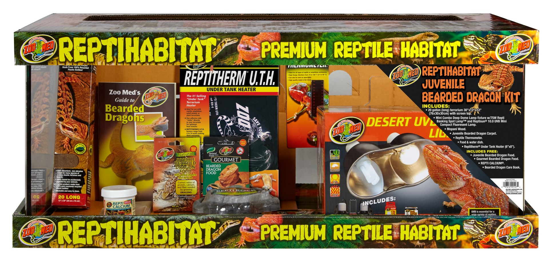 Reptihabitat Juvenile Bearded Dragon Kit Zoo Med