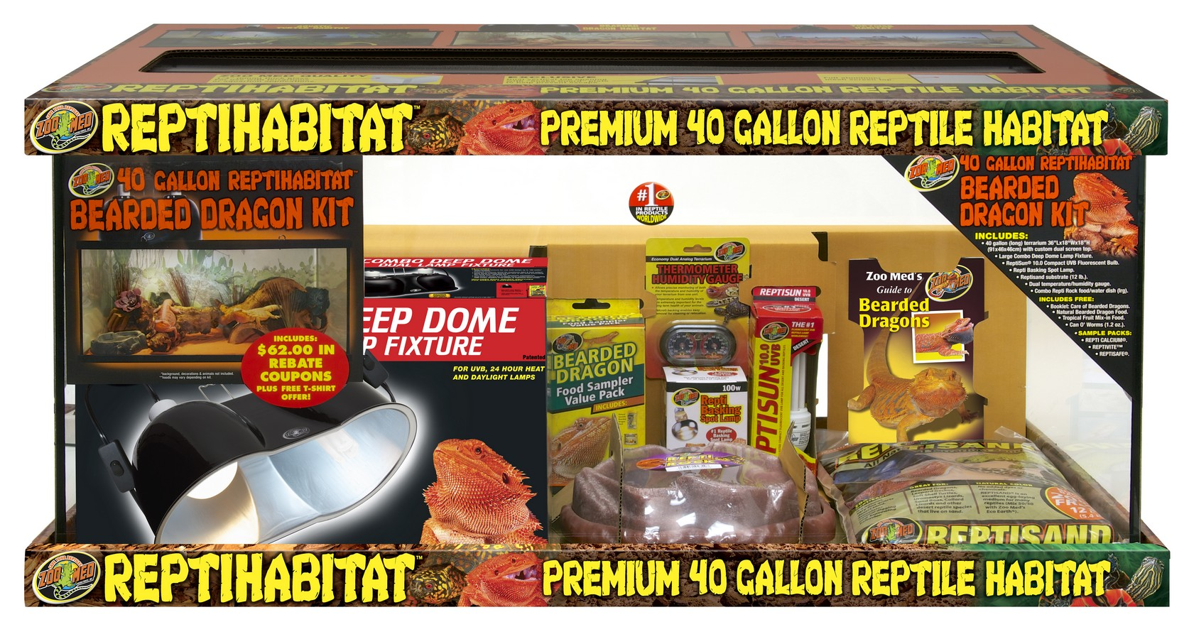 40 Gallon Reptihabitat Bearded Dragon Kit Zoo Med