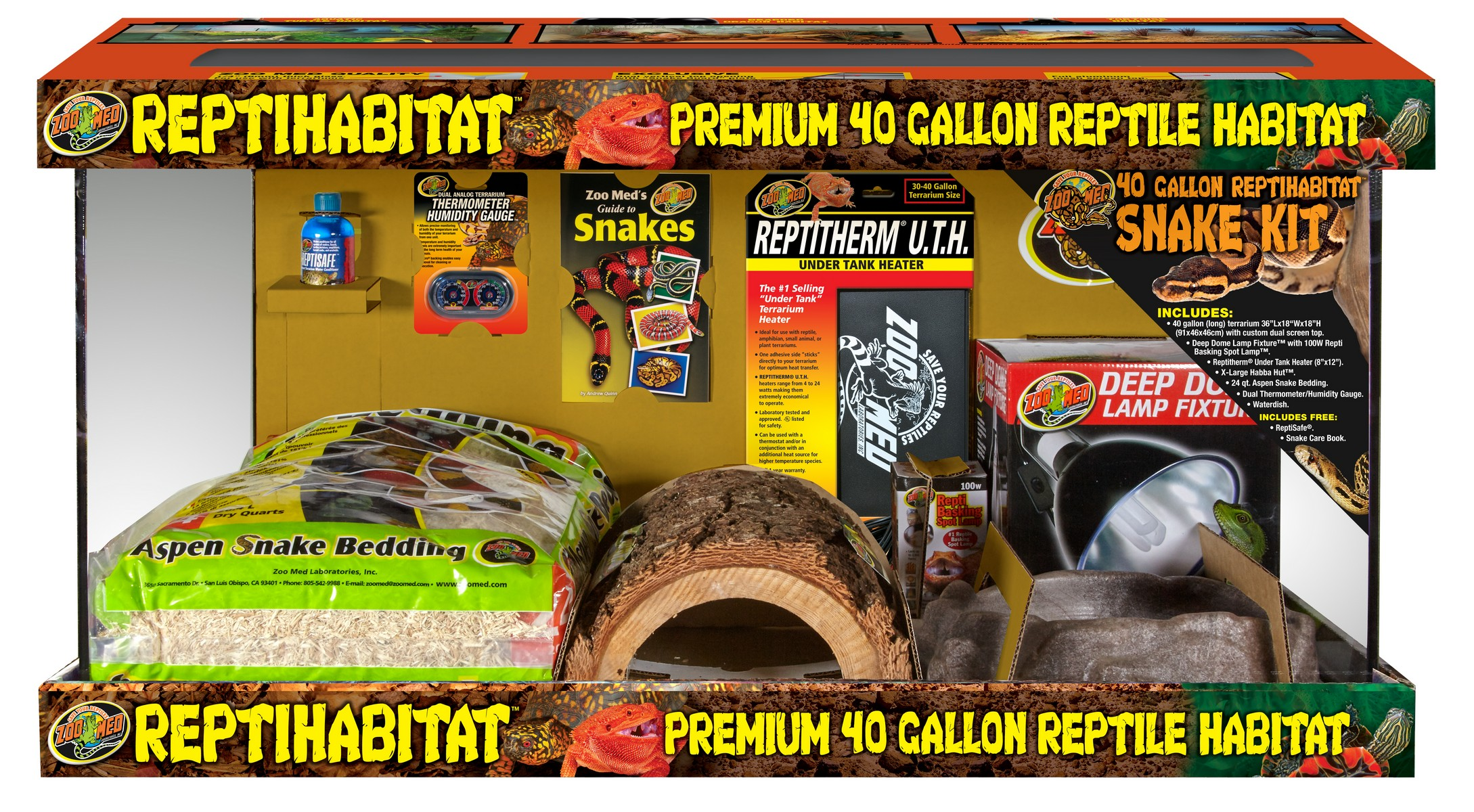 40 Gallon Reptihabitat Snake Kit Zoo Med Laboratories Inc
