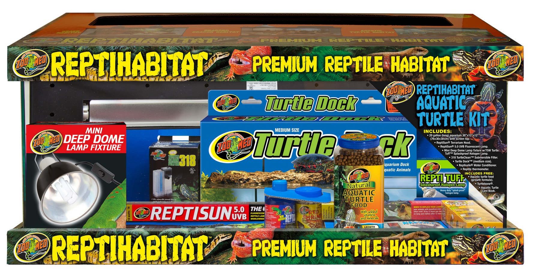 20 Gallon Reptihabitat Aquatic Turtle Kit Zoo Med