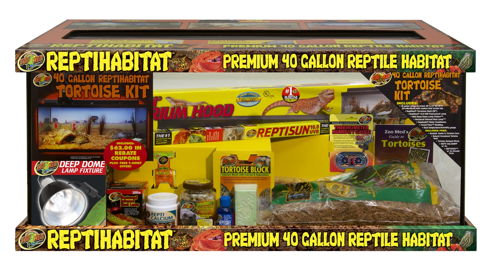 40 Gallon Reptihabitat Tortoise Kit Zoo Med