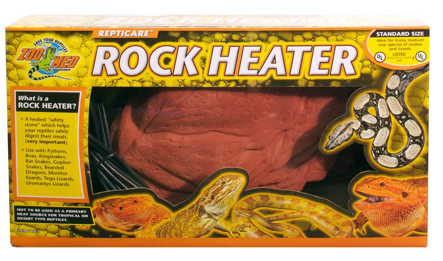 Repticare 174 Rock Heater Zoo Med Laboratories Inc