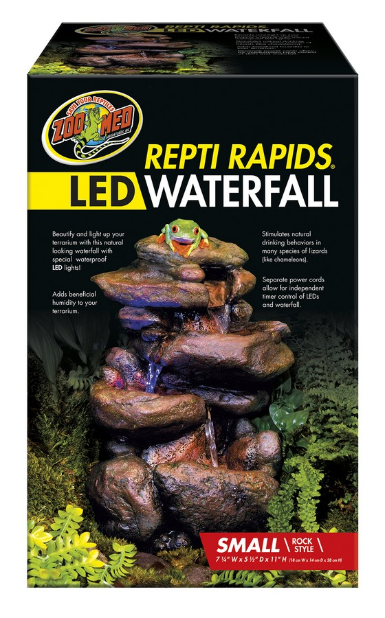 Repti Rapids 174 Led Waterfall Small Rock Zoo Med