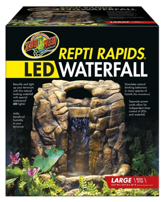 Repti Rapids 174 Led Waterfall Large Rock Zoo Med