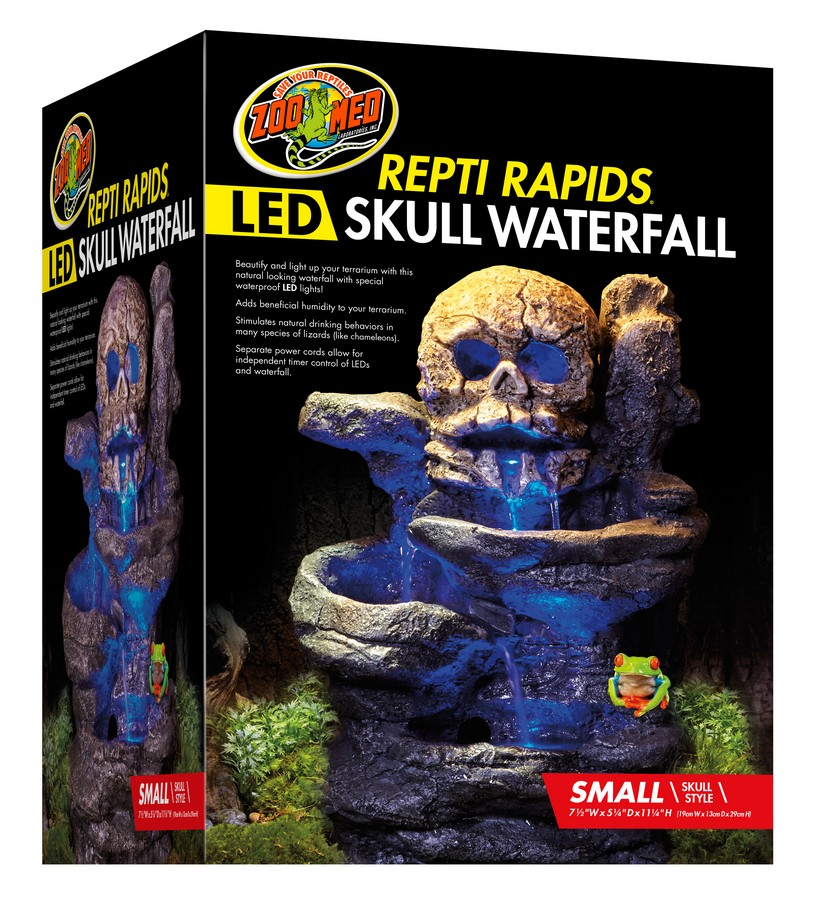 Repti Rapids 174 Led Waterfall Small Skull Zoo Med
