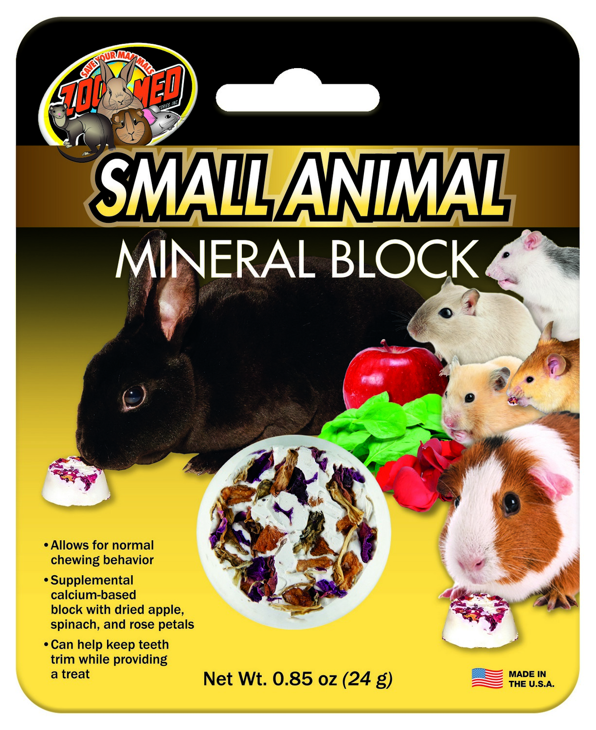 Small Animal Mineral Block Zoo Med Laboratories Inc