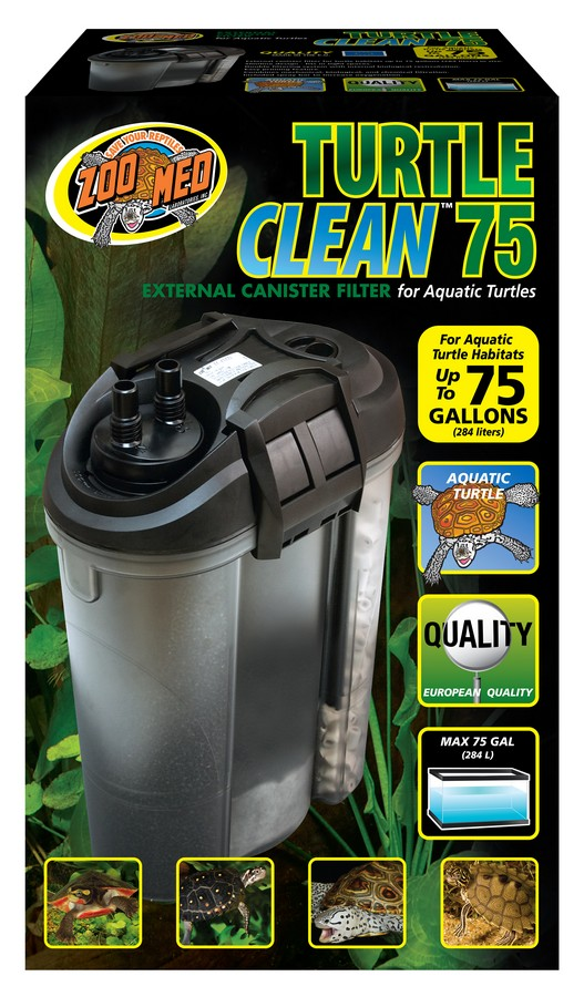 turtle clean™ 75 external canister filter | zoo med laboratories, inc.