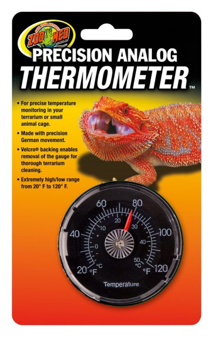 Precision Analog Thermometer Zoo Med Laboratories Inc