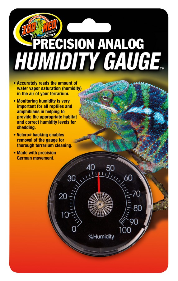 Precision Analog Humidity Gauge Zoo Med Laboratories Inc