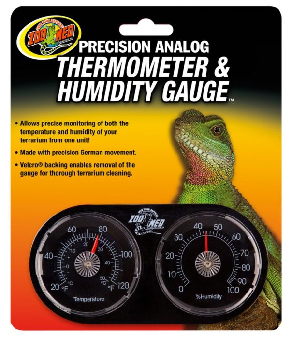 Precision Analog Thermometer Amp Humidity Gauge Zoo Med