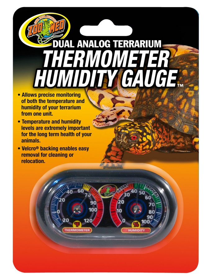 Dual Og Terrarium Thermometer Humidity Gauge