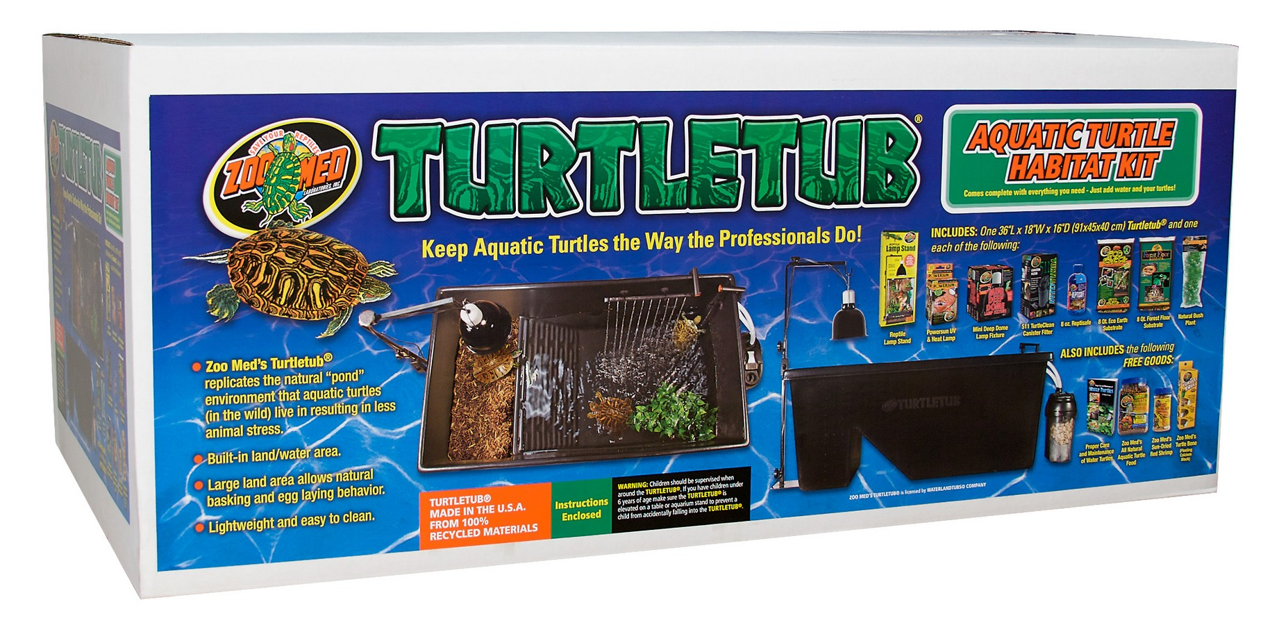 Turtletub 174 Kit Zoo Med Laboratories Inc