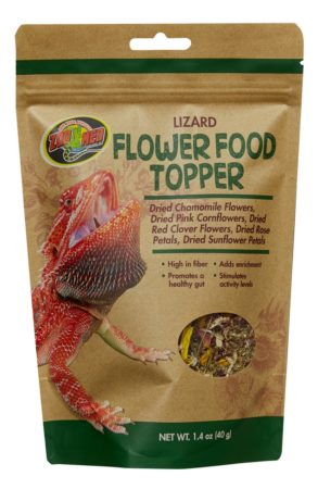 Lizard Flower Food Topper