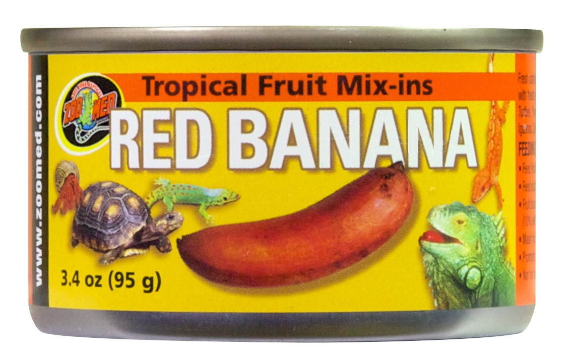 Tropical Fruit Mix Ins Red Banana Zoo Med Laboratories Inc